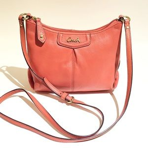 COACH Orange Leather Crossbody Bag
